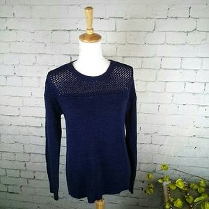 NWT Cable & Gauge sweater with open weave yoke